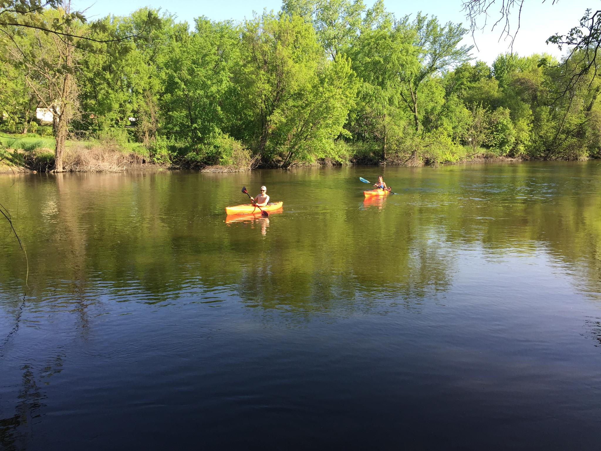 Kayaking, Crow River, 2017