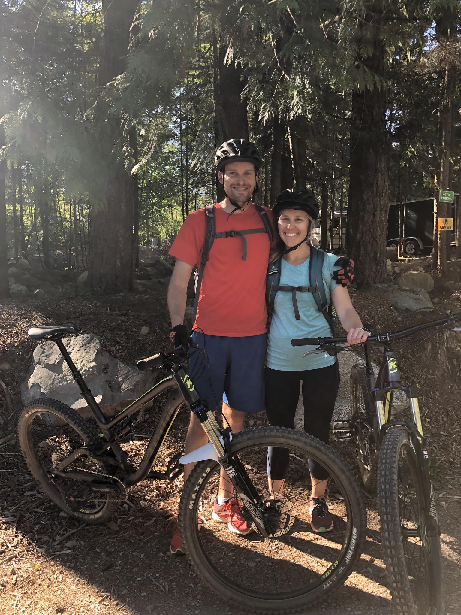 Mountain biking, Squamish, B.C, 2019