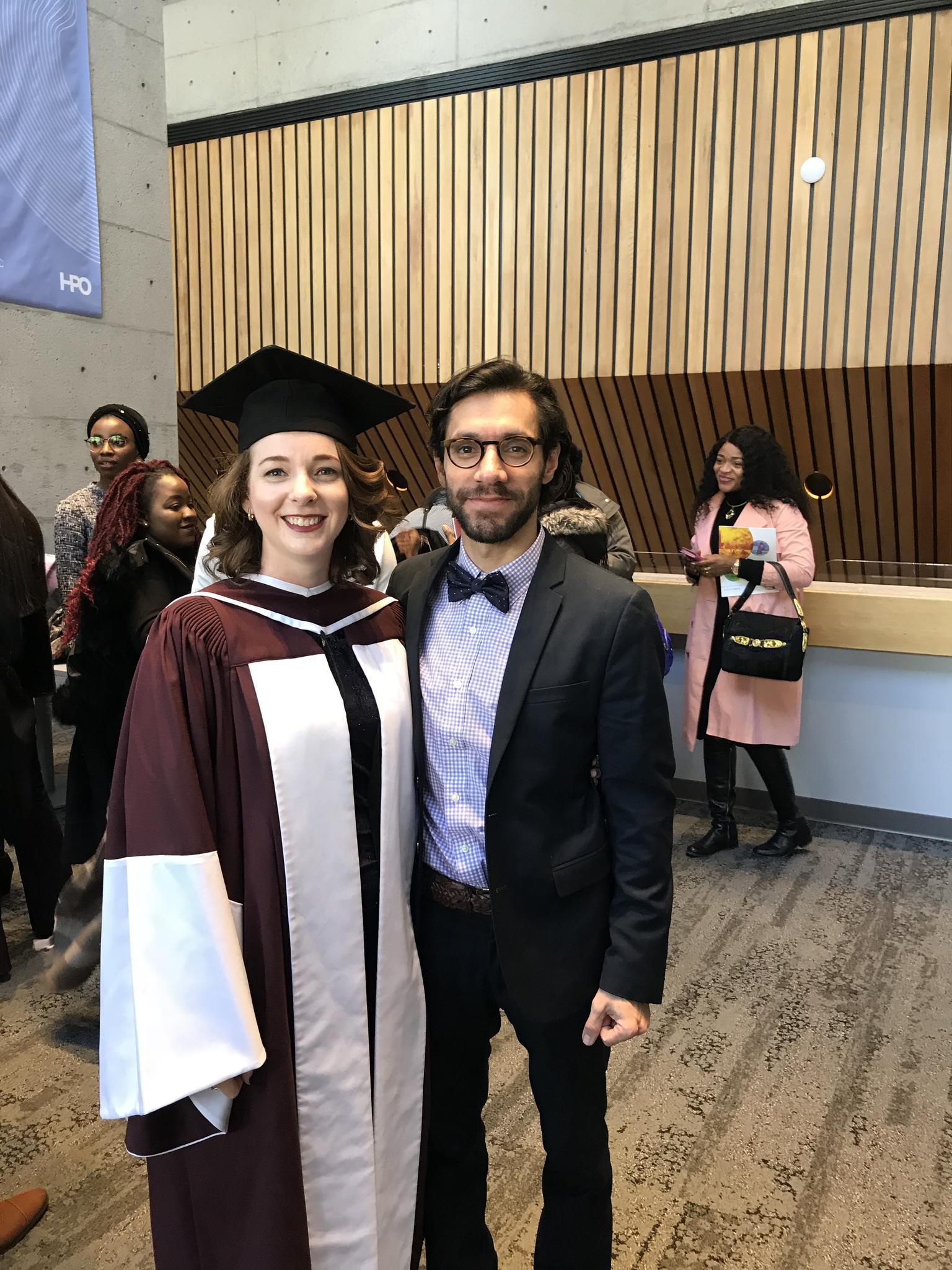 Alison's PhD convocation November 2018