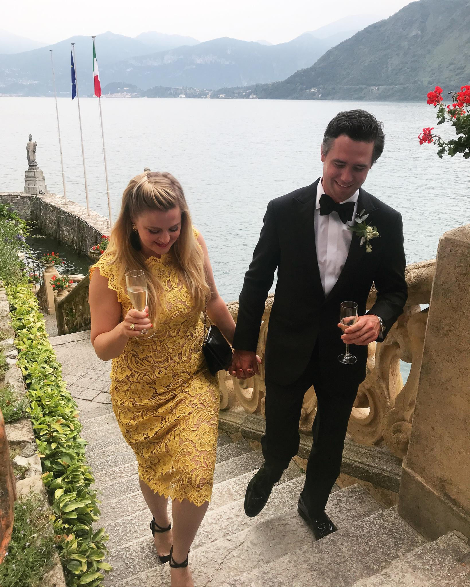 Trent, Joe's cousin, and Ivey's wedding in Lake Como, Italy in June 2019.