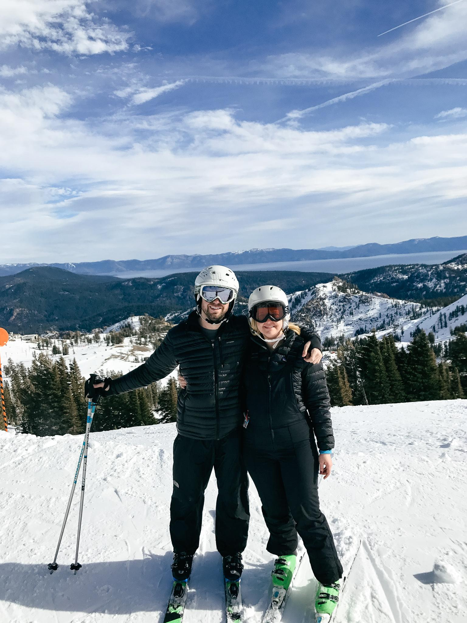 Skiing in Lake Tahoe in December 2017.