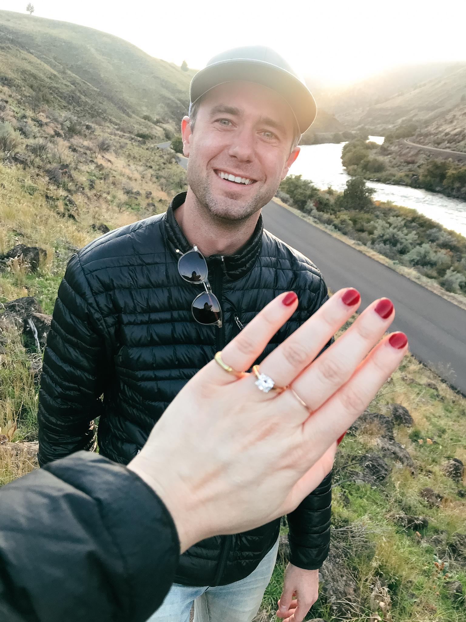 Engaged on the Deschutes River on October 11, 2019.