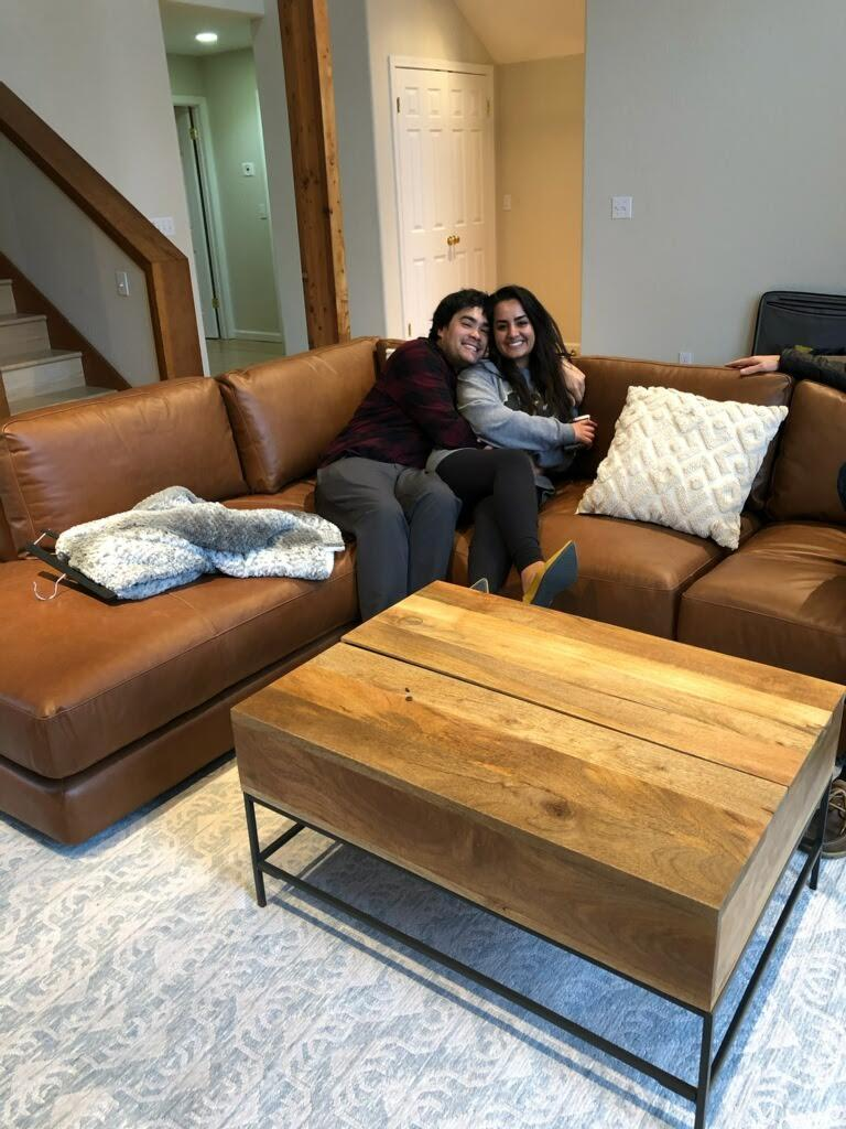 We just moved in and we are in love with the house! Thank you for the couch Kathy + Jerry and Grandma Pauline + Grandpa Hom, we love it! And for our coffee table Linda + Rick <3