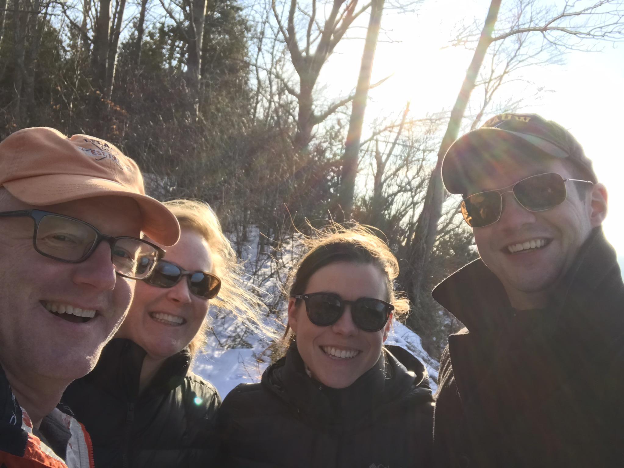 Winter Hike in Leland, MI, 2019