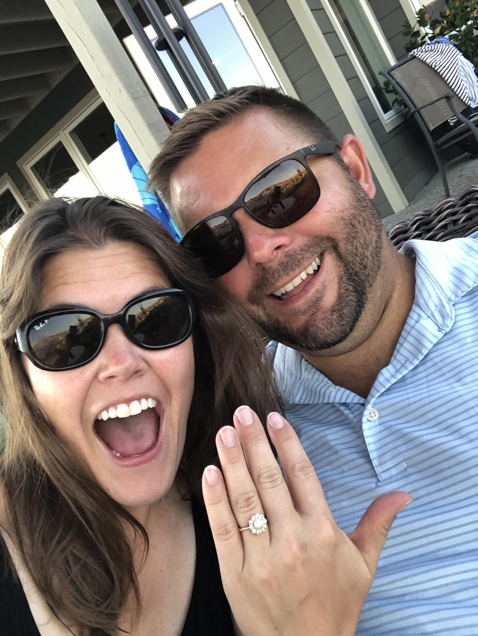 """We're Engaged!"" August 2020, Chelan, WA"