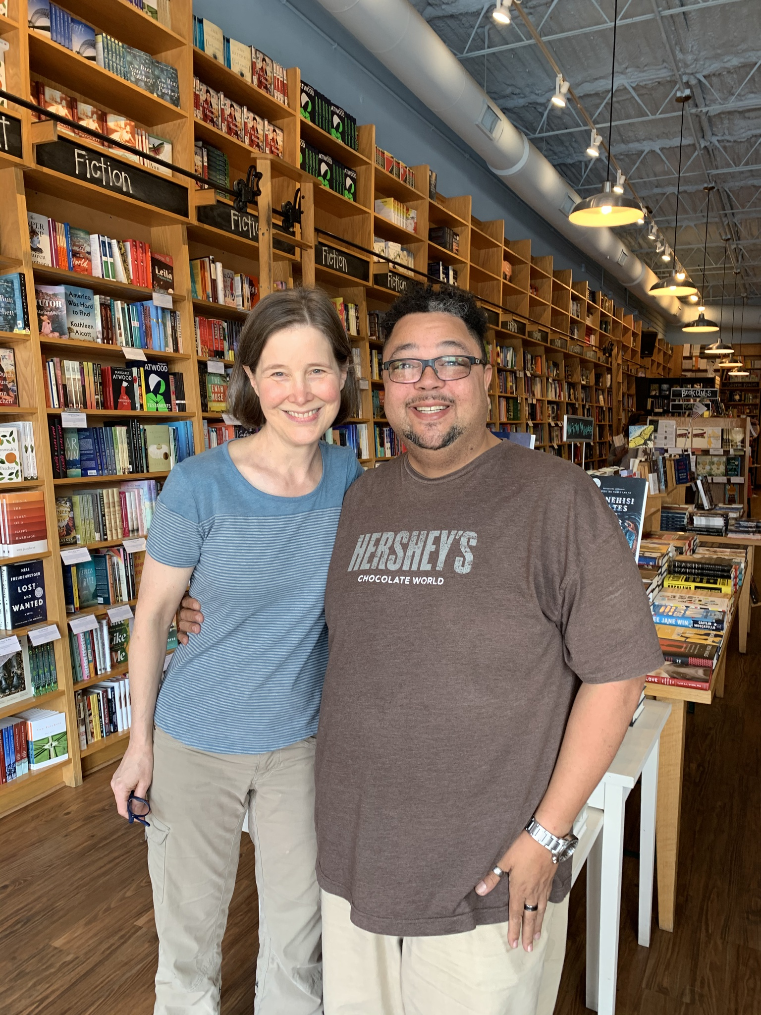 Monti and one of Sharma's favorite authors Ann Patchett. She owns a book store in Green Hills called Parnassus Books. Ann had surprised me at the checkout and asked if she could sign and personalize the book I was buying for Sharma's birthday.