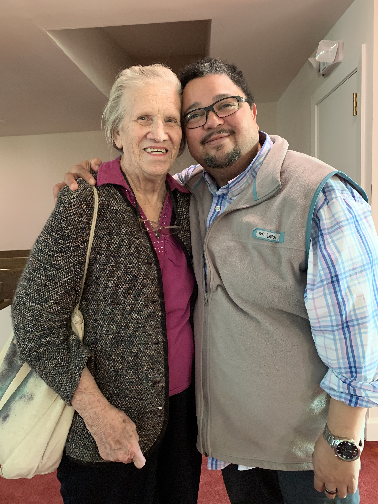 Me and Ms. Sandra, one of the sweetest souls you will ever meet.