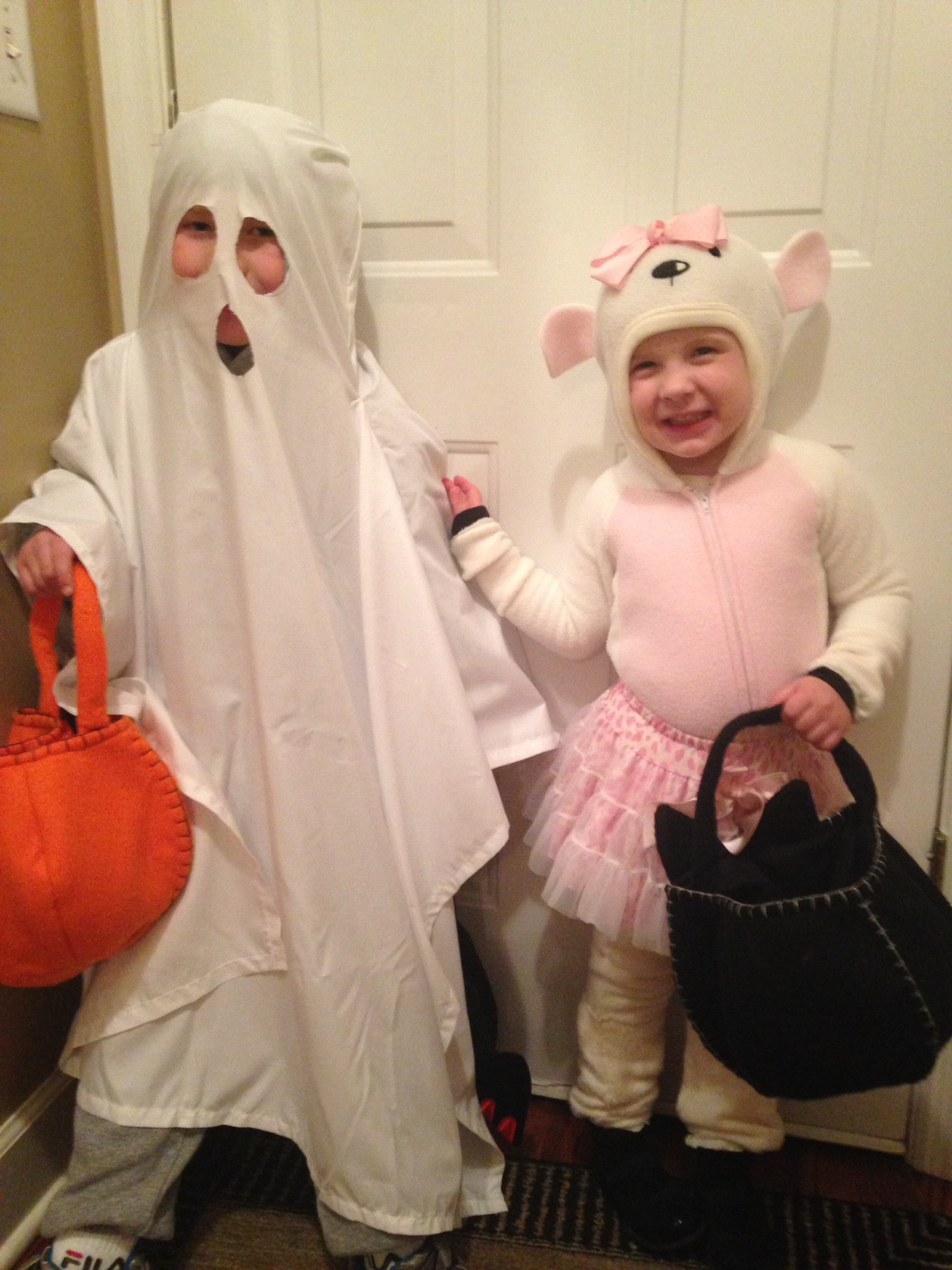 Nathan and Brianna getting ready to trick some treaters.