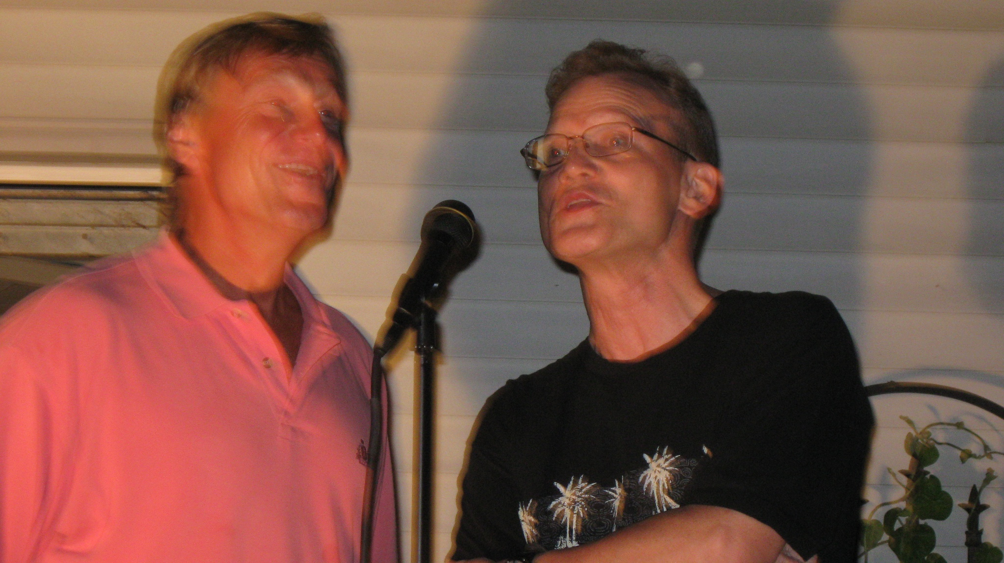 Manny Taylor and David Miller lending their vocal talents. That was a great night of fellowship with friends at Cathy Simpson's old house. Time flies