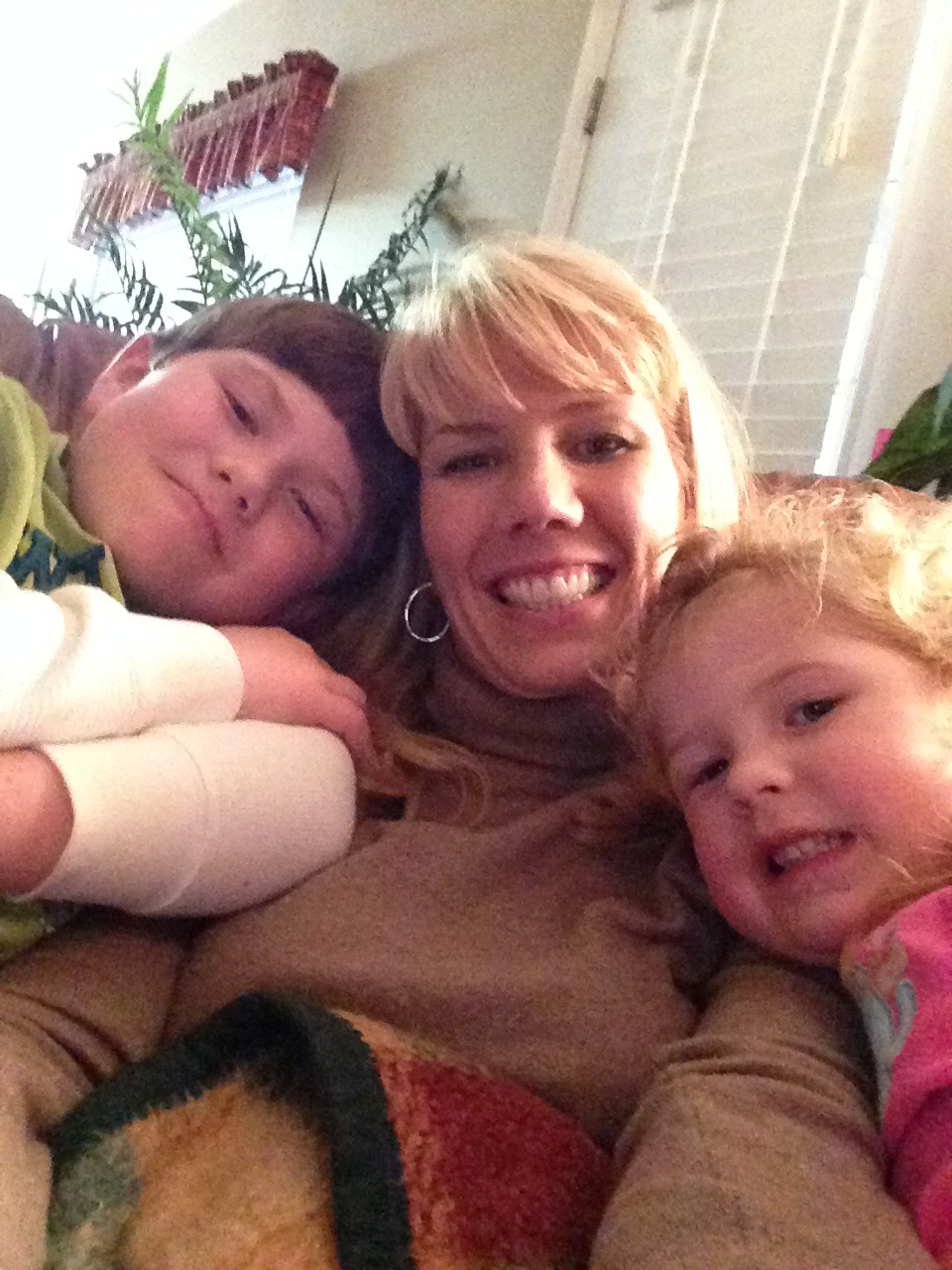 Shana (Sharma's sister) with Brianna and Nathan. They have grown so fast.