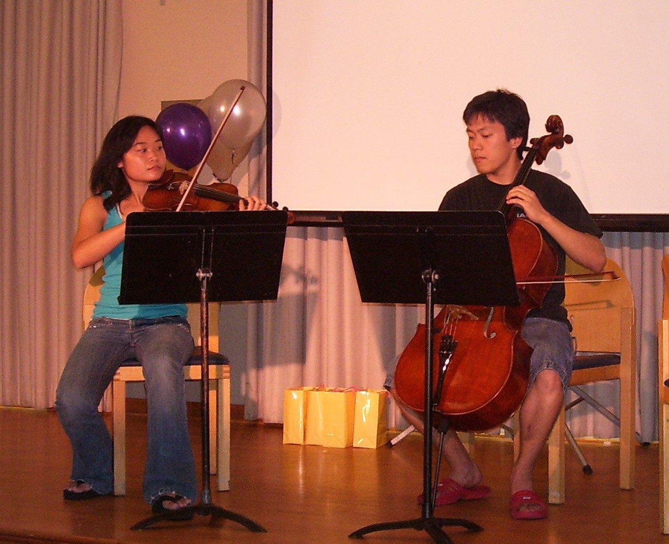 Our early chamber music days at Stanford (in 2006!)