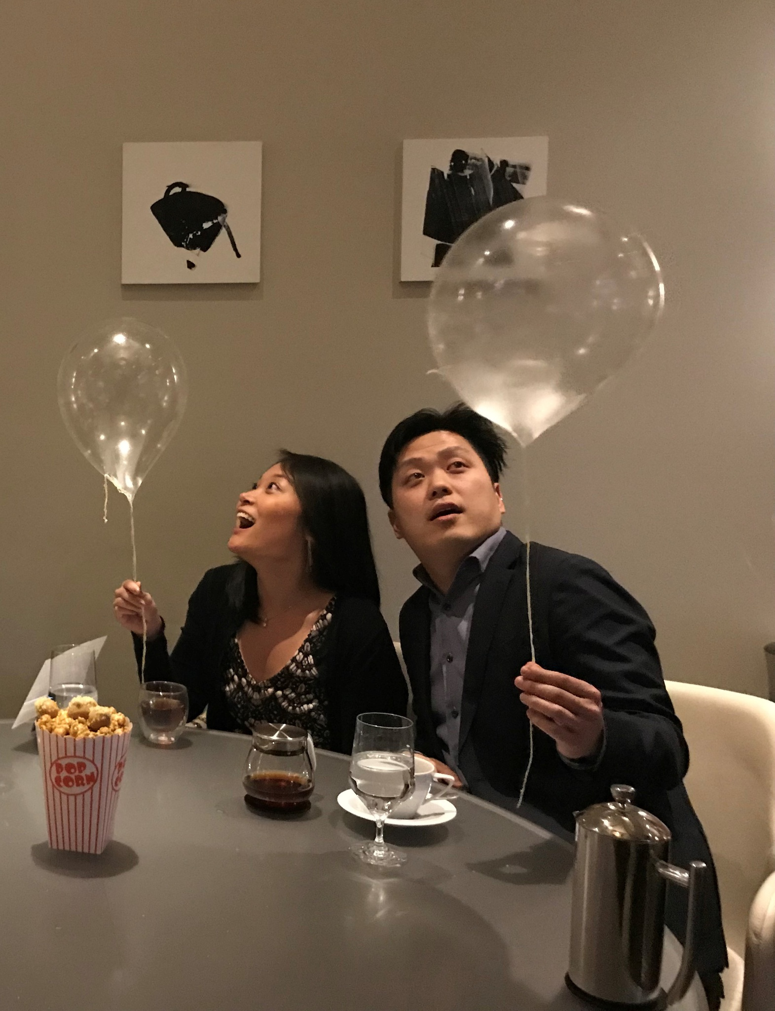 In awe of the edible balloons at Alinea in Chicago