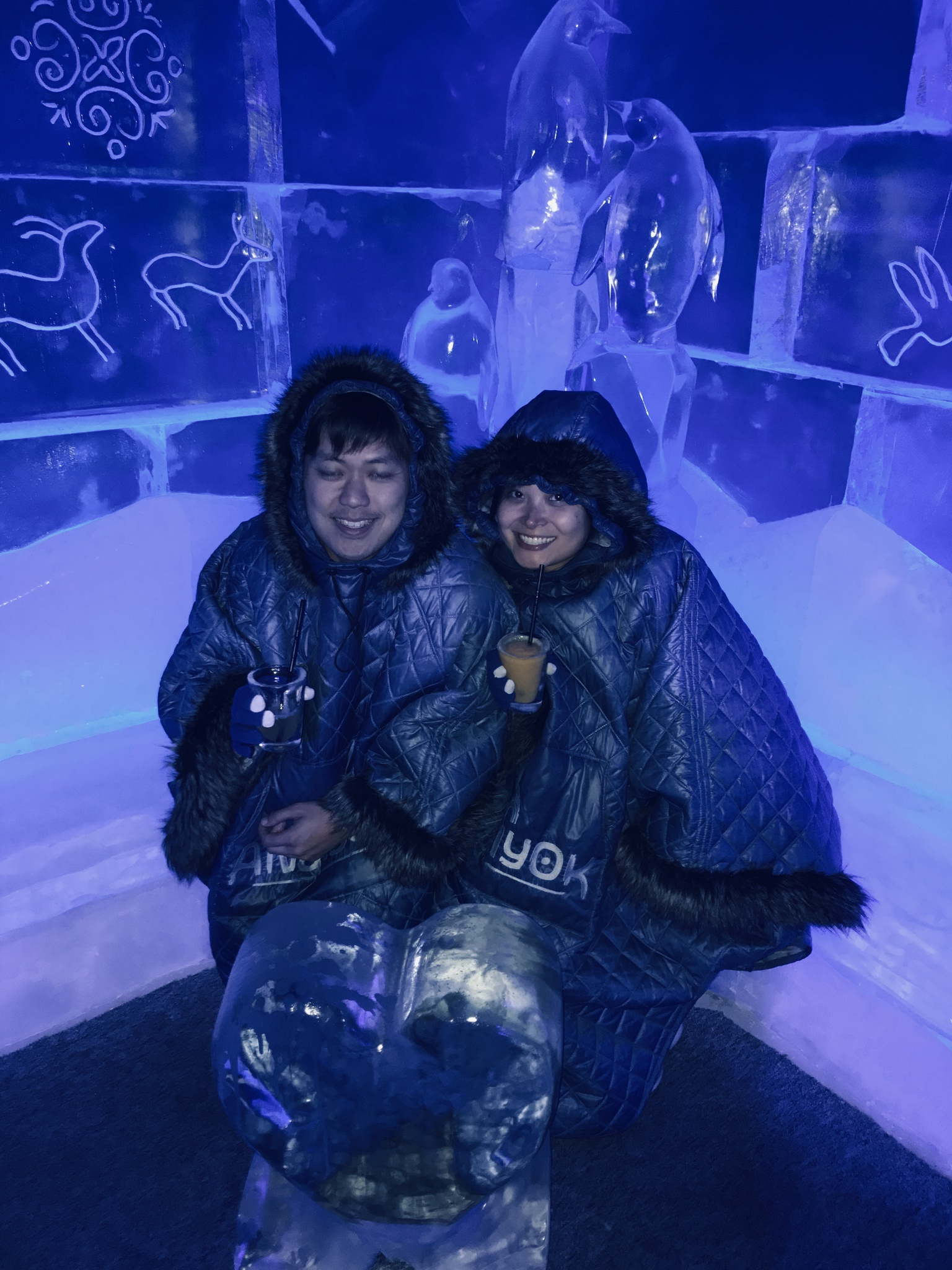 Chilling in an ice bar in Berlin