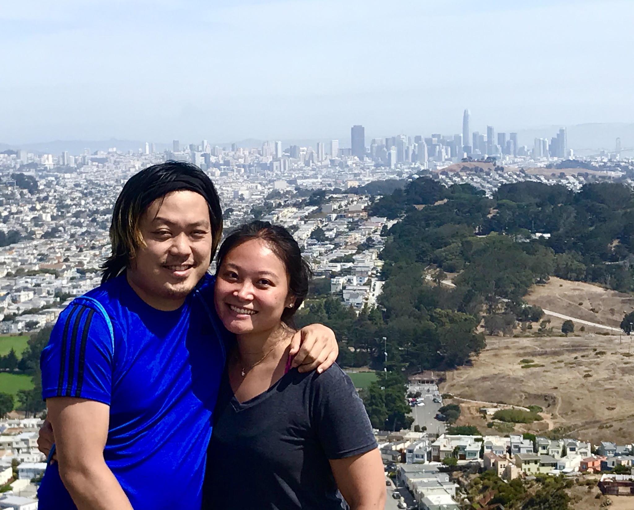 Hiking with views of San Francisco