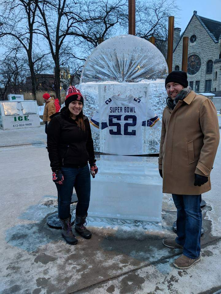 At the Nicollet Ave. Super Bowl Experience in Minneapolis!